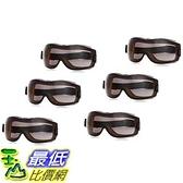 [9美國直購] 6入裝 防疫眼罩 護目鏡 安全眼鏡 AmazonBasics Safety Goggle, Anti-Fog, Smoke Lens