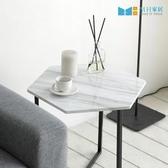 【MH家居】邊几 邊桌 收納茶几 韓國 諾迪北歐風六角邊桌黑色