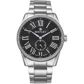 【BENTLEY】賓利 Classic系列 典藏風範奢華男錶 (黑/銀 BL1615-1020103)