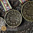 【十相自在】西藏風做舊九宮八卦咒輪銅牌
