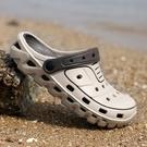 涼鞋男 2020春季新款洞洞鞋男士涼拖鞋男潮流個性沙灘室外穿涼鞋青年學生【全館免運】