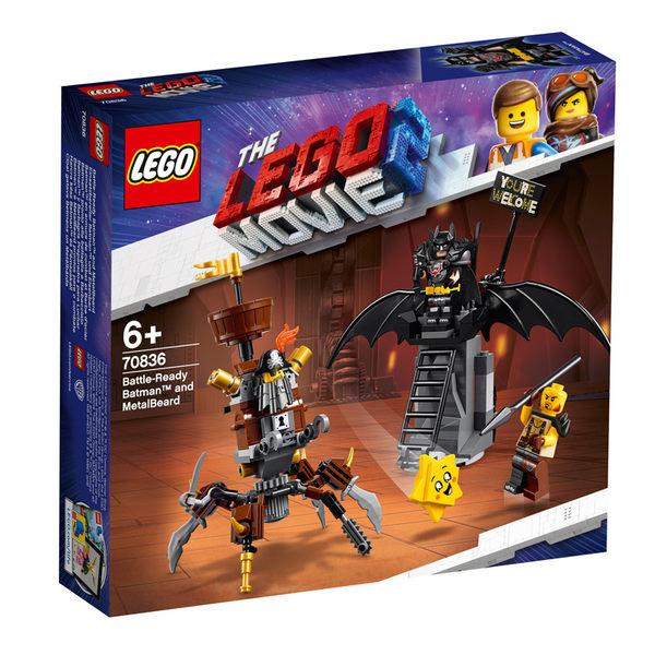 LEGO樂高 樂高玩電影2 70836 Battle-Ready Batman™ and MetalBeard 積木 玩具