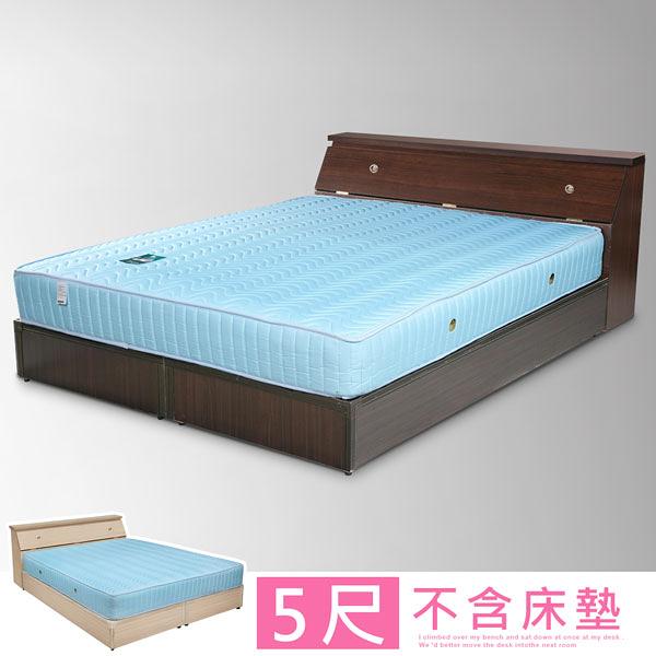 YoStyle 艾莉5尺床組(床頭箱+床底)-二色 專人配送 租屋 房東首選 小資