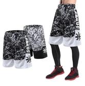 籃球褲 運動短褲男透氣寬松裝備跑步健身褲訓練過膝休閑五分褲健身籃球褲