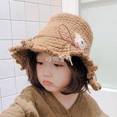 兒童冬天帽 秋冬季兒童百搭毛線帽花邊小熊漁夫帽冬天戶外3-10歲女寶寶保暖帽 珍妮寶貝