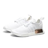 ADIDAS 休閒鞋 NMD R1 白 玫瑰金 襪套式 女 (布魯克林) FV1788