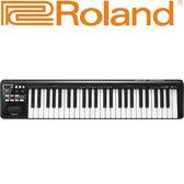 【敦煌樂器】ROLAND A49 MIDI 49鍵主控鍵盤 黑色款