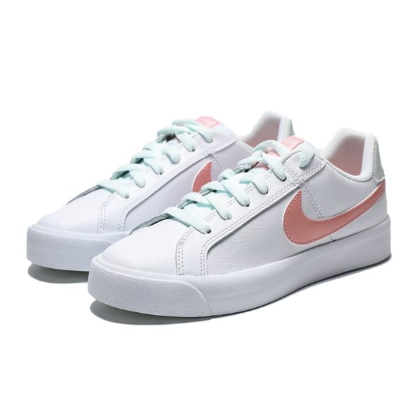 NIKE W COURT ROYALE AC 白 粉logo 皮革 休閒鞋 女(布魯克林) AO2810-107 | 慢跑鞋 |