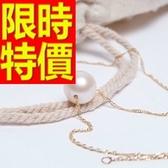 珍珠項鍊 單顆9-10mm-生日情人節禮物精美流行女性飾品53pe29【巴黎精品】
