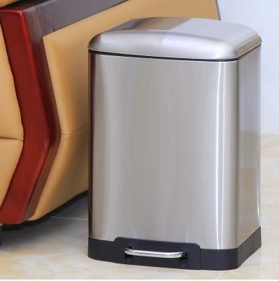 不銹鋼垃圾桶腳踏家用衛生間客廳廚房【12L麵包款砂光】