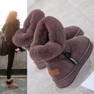 雪地靴女2021新款時尚短靴冬季加絨短筒厚底棉靴加厚保暖棉鞋防滑 滿天星