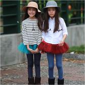 女童褲裙 假兩件 層次網紗 裙褲 長褲 褲子 Augelute 47057