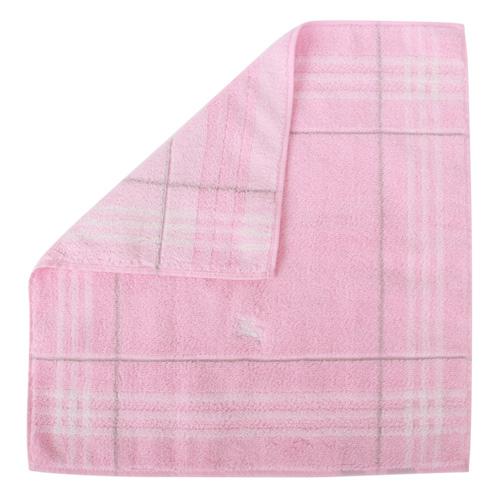 BURBERRY條紋100%棉質方巾(粉紅色)081019