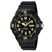 【CASIO】潛水風DIVER LOOK系列錶-黑X黃數字(MRW-200H-9B)