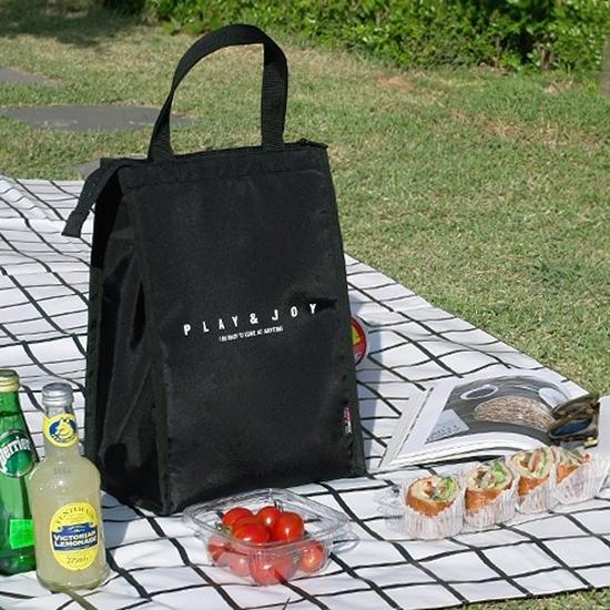 保冷袋 野餐 便當包 手提 飯盒袋 收納包 郊遊 簡約保溫便當袋(長)【Z106】color me 旗艦店