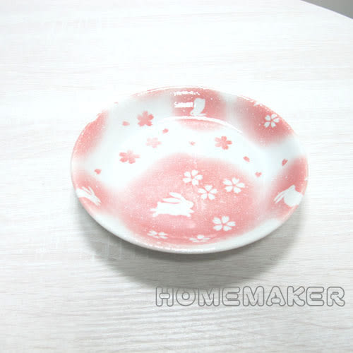 粉紅玉兔陶瓷缽_JK-13653