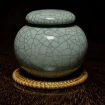 [協貿國際]  扁形青瓷茶葉罐儲存罐 (1入)
