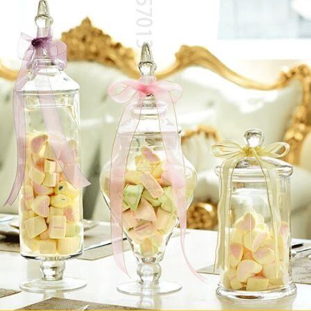 交換禮物-歐式透明玻璃糖果罐創意婚慶糖缸甜品裝飾儲物罐工藝玻璃軟裝擺件