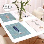 餐墊雙層加厚卡通可愛日式棉麻布藝西餐墊ins創意北歐文藝學生餐桌墊滿699折89折