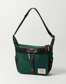 MSPC(master-piece) LINK NO.02350-GREEN-B [經典異材質拼接側背包-綠拼接黑色]