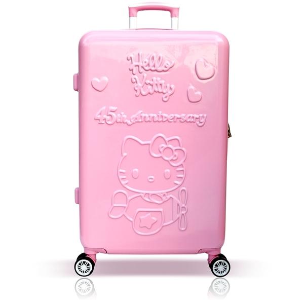 45週年Hello Kitty 19吋輕旅行登機箱/行李箱-粉