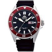 【台南 時代鐘錶 ORIENT】東方錶 RA-AA0011B MAKO XL系列兩百米潛水機械錶 橡膠帶 紅圈 44mm