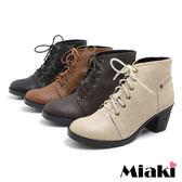 韓風熱銷綁帶英倫粗跟短靴軍靴牛津靴 (MIT)
