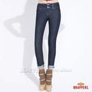 BRAPPERS 女款 新美腳系列-四面伸縮鑲鑽窄管褲-水洗藍
