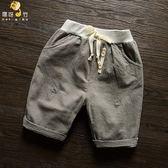 618好康又一發男寶寶短褲嬰兒童休閒褲子夏天薄款開襠外穿2男童幼兒夏裝0一3歲