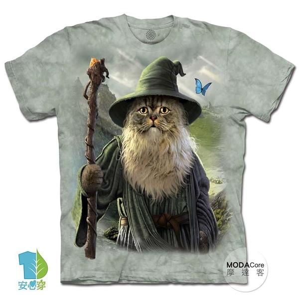 摩達客-(預購)美國進口The Mountain 貓道夫 純棉環保藝術中性短袖T恤