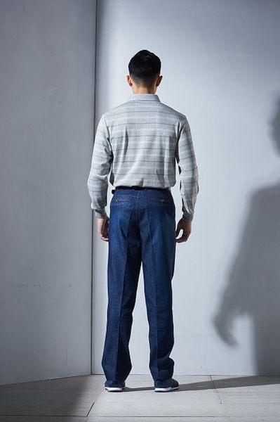 Emilio Valentino范倫鐵諾清新格紋厚料棉POLO衫 (灰)