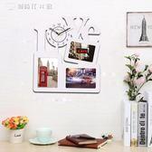 時鐘相框 個性現代木質鐘錶LOVE掛錶藝術時鐘客廳臥室靜音相框YYS 【創時代3c館】
