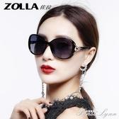 偏光太陽鏡女士圓臉防時尚潮流眼鏡新款墨鏡女大框優雅 范思蓮恩