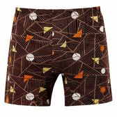 DADADO-線條幾何M-3L印花平口褲(棕)GH7262-BR