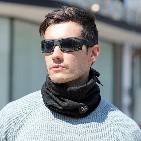 限時特銷 圍脖男冬季加厚加長保暖護頸脖套百搭簡約青人戶外男士通用圍巾