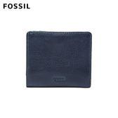 FOSSIL Emma 海軍藍真皮RFID迷你短夾 SL7150406