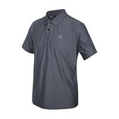 FIRESTAR 男彈性高爾夫短袖POLO衫(運動 慢跑 路跑 上衣 涼感 網球 反光  ≡排汗專家≡