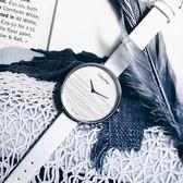 CK / K7A231L6 / RISE 迷人晨曦海平面木紋質感皮革手錶 銀白色 37mm