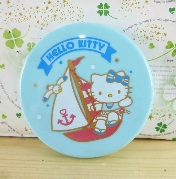 【震撼精品百貨】Hello Kitty 凱蒂貓-摺疊雙面鏡-藍海軍