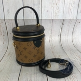 BRAND楓月 LOUIS VUITTON LV M43986 CANNES 原花 雙色 圓桶包 肩背包 手提包