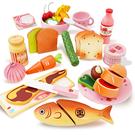 西式晚餐扮家家酒木製玩具組 兒童玩具 煮菜遊戲組 仿真食物玩具