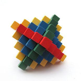 成人益智玩具 成人玩具 智力玩具 孔明鎖魯班鎖 彩色菠蘿