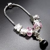 手鍊 串珠-水晶飾品黑珍珠生日情人節禮物女配件73bo86【時尚巴黎】