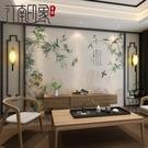 壁畫 中式竹子花鳥客廳影視無縫背景墻電視背景墻紙