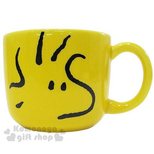 〔小禮堂〕Snoopy 史努比 糊塗塔客 日製陶瓷馬克杯《黃.大臉》日本金正陶瓷 4964412-61218