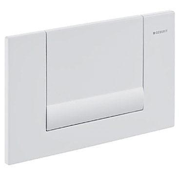 【麗室衛浴】瑞士原裝GEBERIT  Tango  115.760.11.1   埋壁按鈕白色單段冲水面板