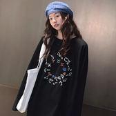 韓版T恤女中長款長袖100%純棉原宿風長袖T恤女不掉色GT270-A依佳衣