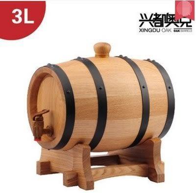 3L  無內膽橡木桶  紅酒桶【藍星居家】