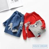 兒童毛衣 兒童卡通毛衣2020秋裝新款雙層加厚童裝兒童套頭針織衫男童線衣潮 HD