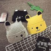 嬰兒保暖帽子嬰兒帽子0-3-6-12個月秋冬男女新生寶寶帽子1-2歲嬰兒毛線帽 交換禮物熱銷款